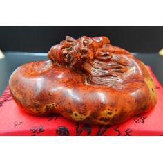 麻梨疙瘩手雕件,龙头