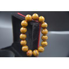 宣化战国红手串,直径1.5厘米左右,鸡油黄闪丝,精品收藏 完整细密闪丝