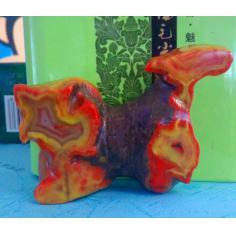 北票战国红,藏獒大象双面巧雕