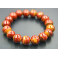 战国红精美闪丝手串,1.5厘米17珠