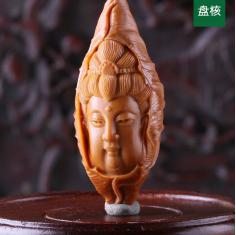 荷叶大观音头 苏工曹乐橄榄胡橄榄核雕刻单籽核手机链|N3051