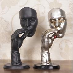 烟者创意复古抽象雕塑摆件艺术品酒吧会所家装饰品摆设橱窗道具
