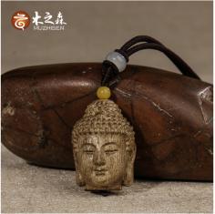 【释迦牟尼】正宗印尼达拉干沉香项链吊坠手工精雕佛头天然清甜香
