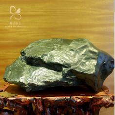 西钻新疆和田玉碧玉纯天然籽料摆件玉石重器原石收藏保价附证书