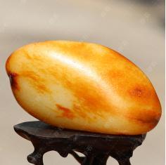 询价 存石新疆和田玉籽料红皮收藏原石摆件收藏品原籽手把件342.7