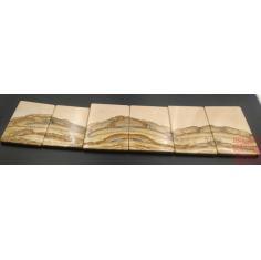 撒哈拉天然石画一套合计6块,层峦叠障,锦绣河山,珍藏品