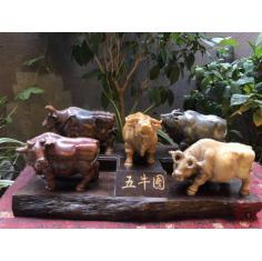 品种:寿山石罕见的五彩老岭石 ……五牛图