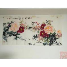 花开富贵,6尺全开 花卉画