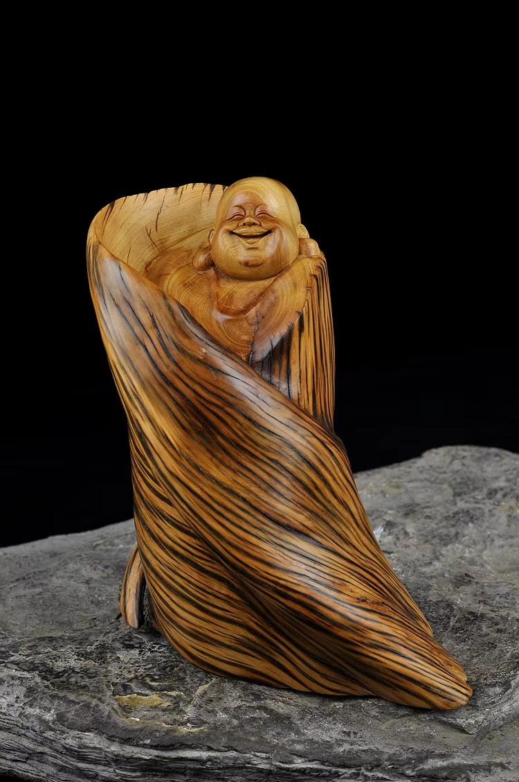 【精品】全身360度的虎皮,扭曲、盘旋纹,特别的精致干净,就像弥勒的脸一样笑的自在无杂质。